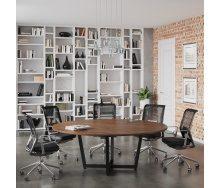 Стол для переговоров D-2000 Loftdesign 2000х750 мм дсп орех-модена