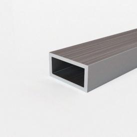 Труба алюмінієва профільна АД31Т5 прямокутна анодована 30х18х1,5 мм
