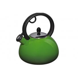 Эмалированный чайник со свистком GRANCHIO Capriccio Verde 2,5 л (88618)