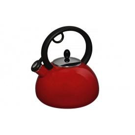 Эмалированный чайник со свистком GRANCHIO Capriccio Rosso 2,5 л (88617)