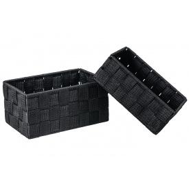 Корзинка обычная ADAM SCHMIDT черная 2 шт (6399/1-2S)