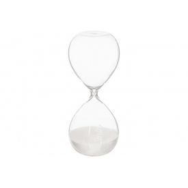 Часы песочные ATMOSPHERA белые на 30 минут 8,5x8,5x20 см (150677-white)