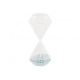 Часы песочные ATMOSPHERA светло-голубые на 60 минут 10x10x25 см (150674-light blue)