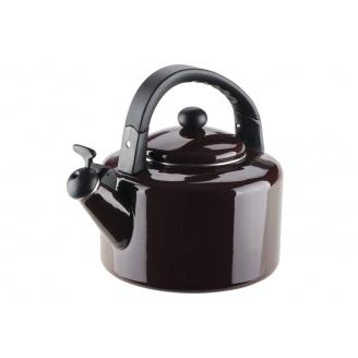 Емальований чайник зі свистком GRANCHIO Allegro Melanzana коричневий 2,8 л (88631)