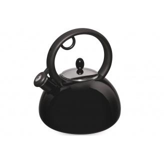 Емальований чайник зі свистком GRANCHIO Capriccio Nero 2,5 л (88615)