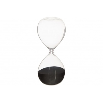 Годинник пісочний ATMOSPHERA чорні на 30 хвилин 8,5x8,5x20 см (150677-black)