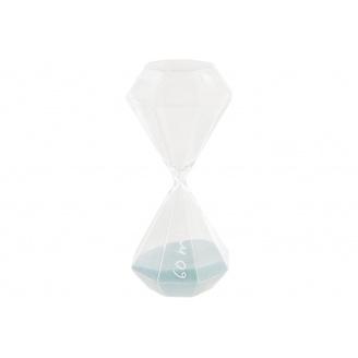 Годинник пісочний ATMOSPHERA світло-блакитні на 60 хвилин 10x10x25 см (150674-light blue)