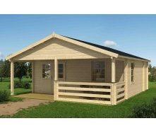 Дом деревянный из профилированного бруса 6х8.3