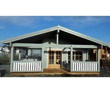 Дом деревянный из профилированного бруса 7.5х6.5