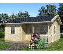 Дом деревянный из профилированного бруса 4.5х6