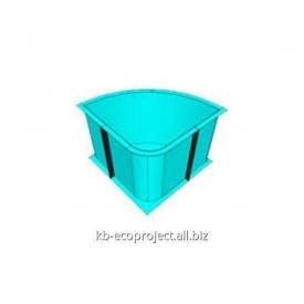 Купель из полипропилена 1,8x1,8x1,6 м