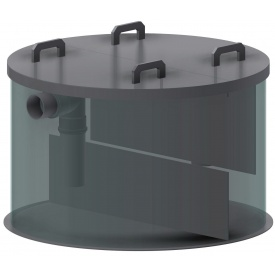 Сепаратор нефтепродуктов для установки в бетонные кольца 3 л/сек
