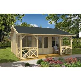 Дом деревянный из профилированного бруса 3.9х5.6