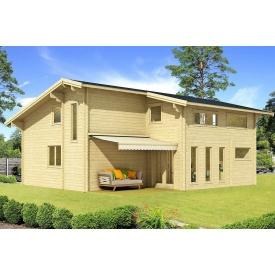 Дом деревянный из профилированного бруса 8.5х9.6
