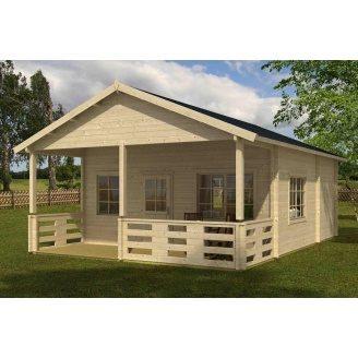 Дом деревянный из профилированного бруса 6х6.5