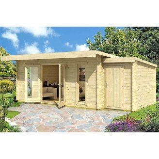 Дом деревянный из профилированного бруса 5.5х3.9