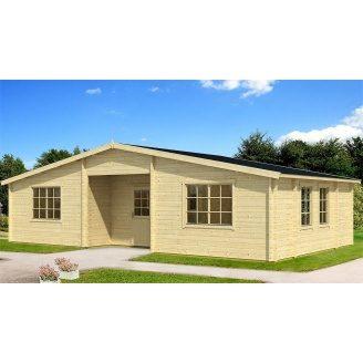 Дом деревянный из профилированного бруса 10.5х6