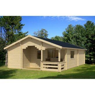 Дом деревянный из профилированного бруса 6х9