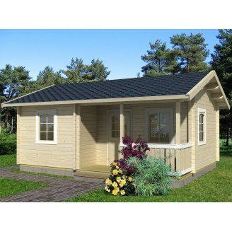 Дом деревянный из профилированного бруса 5х7.7