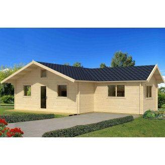 Дом деревянный из профилированного бруса 7.6х10