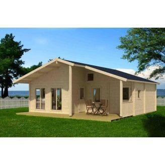 Дом деревянный из профилированного бруса 7.5х8