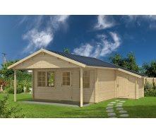 Дом деревянный из профилированного бруса 5х6