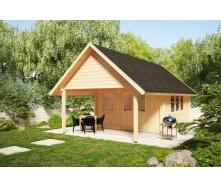 Дом деревянный из профилированного бруса 4х4