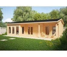 Дом деревянный из профилированного бруса 6х11