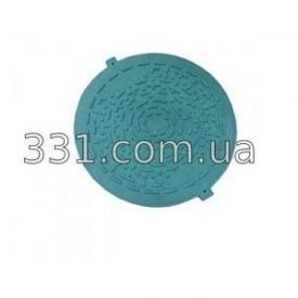 Крышка люка садового легкого полимерпещаного А15 зелёная 620 мм ИМПЕКС-ГРУПП (IMPA623)