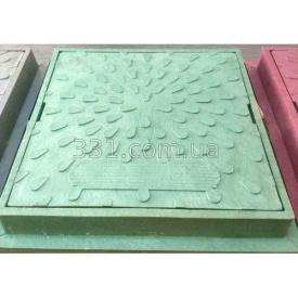 Люк ревизионно- смотровой квадратный зеленый 323х323 мм ИМПЕКС-ГРУПП