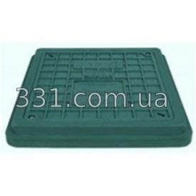 Люк полимерпесчанный квадратный 710х710 с замком А15 зелёный ИМПЕКС-ГРУПП (IMPA669)