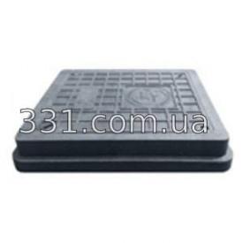 Люк полимерпесчанный квадратный 710х710 с замком В125 чёрный ИМПЕКС-ГРУПП (IMPA671)