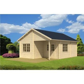 Дом деревянный из профилированного бруса 5х7