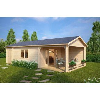 Дом деревянный из профилированного бруса 4х9
