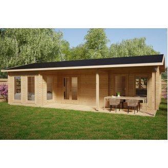 Дом деревянный из профилированного бруса 6х10