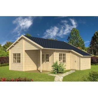 Дом деревянный из профилированного бруса 7х8