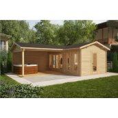 Будинок дерев`яний з профільованого бруса 3х6