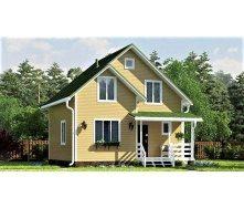 Дом из профилированного бруса, деревянный 8х8 м