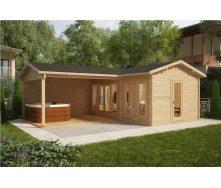 Дом деревянный из профилированного бруса 3х6