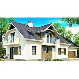 Дом деревянный из профилированного бруса 19х9 м