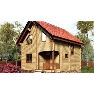 Дом из профилированного бруса 7×7 м