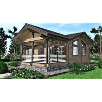 Дерев`яний будинок з профільованого бруса 10х12 м