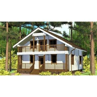 Двухэтажный дом из профилированного бруса 9х10 м
