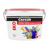 Краска акриловая Ceresit EKO матовая 4 кг белоснежный