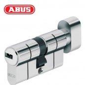Циліндр ABUS KD6 PS 100 мм 50х50Т ключ - вороток нікель матовий
