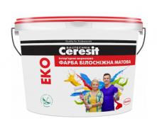 Краска акриловая Ceresit EKO матовая 7 кг белоснежный