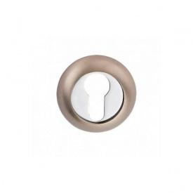 Накладка дверная под цилиндр MVM E9 SN/CP матовый никель/полированный хром