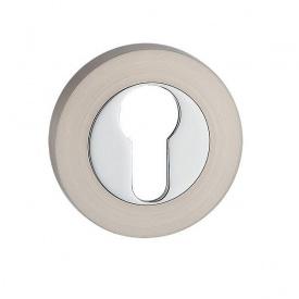Накладка дверна під циліндр MVM E3 SN/CP - матовий нікель/полірований хром