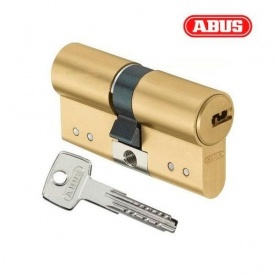 Цилиндр ABUS D15 60 мм 30х30 мм ключ-ключ латунь матовая