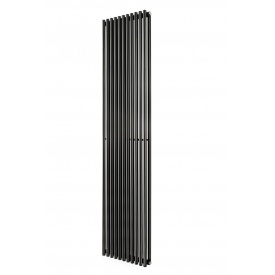 Трубчатый вертикальный радиатор Praktikum 2 1800х425 мм RAL9016/9005 Mat